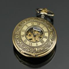 Double half hunter steampunk pocket watch