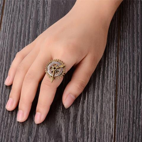 Gears Clock Steampunk Ring