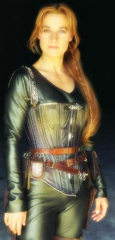 Rebecca Fogg from the secret adventures of jules verne steampunk outfit