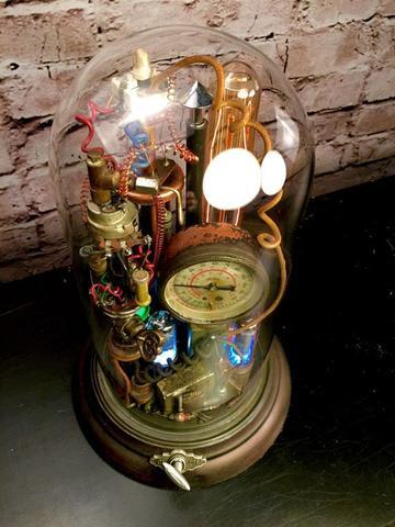 steampunk assemblage art