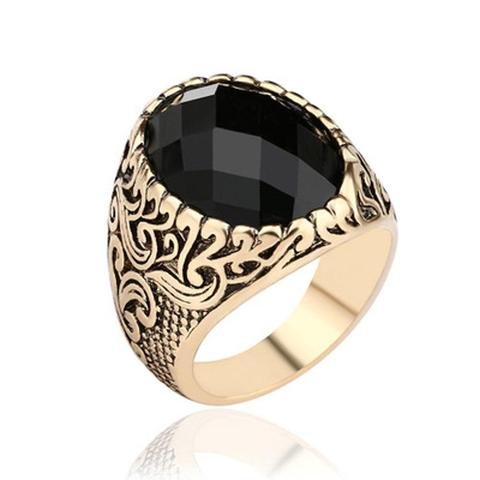 Steampunk Black Crystal Ring