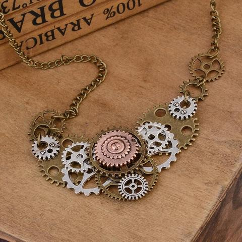 Steampunk Necklace Gears within Gears