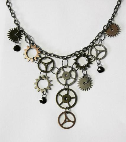 self made diy steampunk necklace
