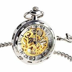 open face steampunk pocket watch