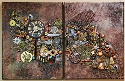 canvas art steampunk