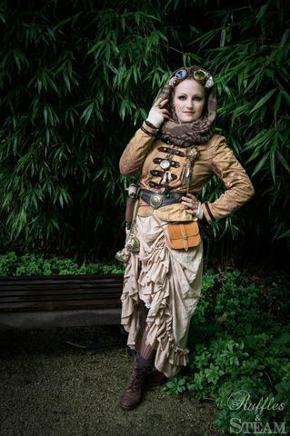 steampunk woman explorer