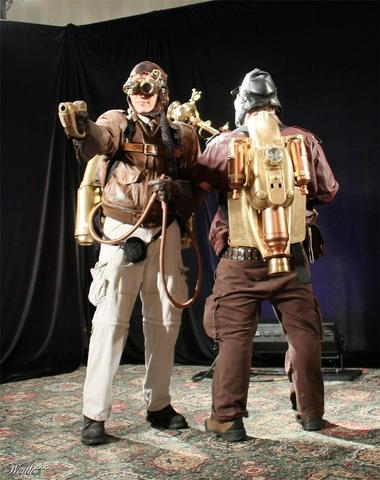 Halloween steampunk costumes example