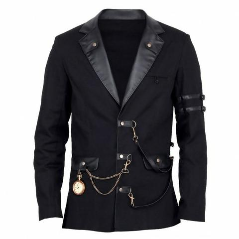 steampunk jacket for men with a pocket watch