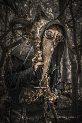 steampunk plague doctor with steampunk mask