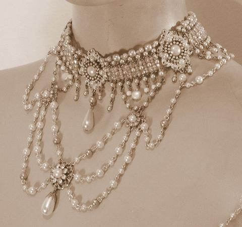 Victorian choker necklace